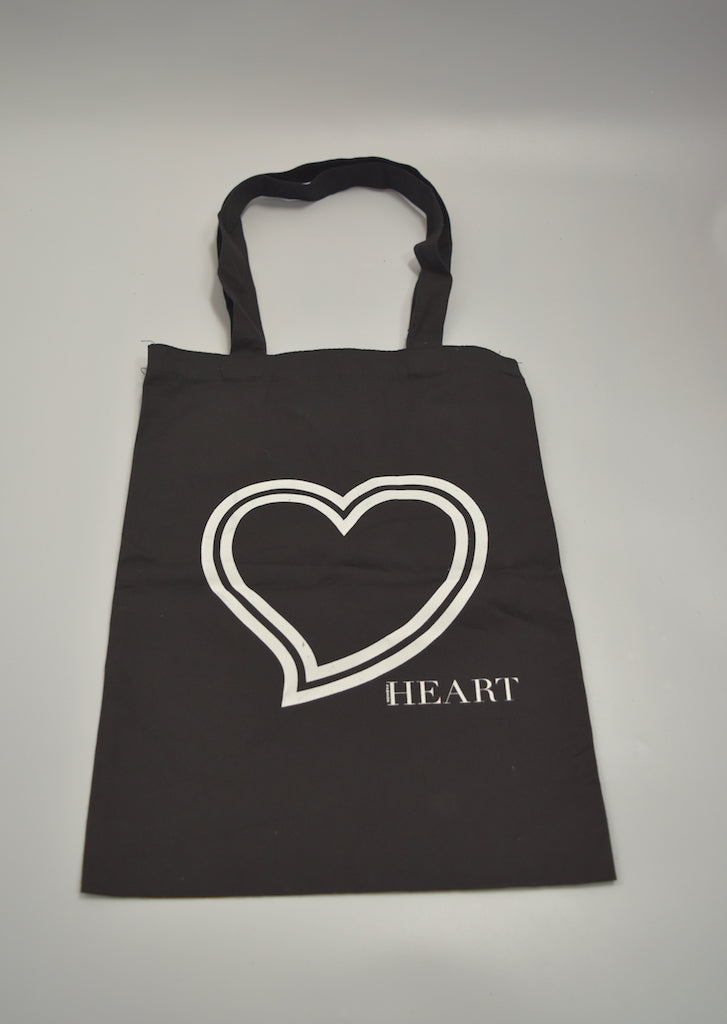 NUMBERNINE / HEART Black Tote Bag / 7332 - 0408 31