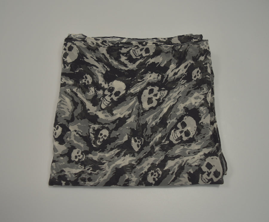 NUMBERNINE / 《Time Migration》 Silk Scull Chiffon Scarf / 7333 - 0408 86