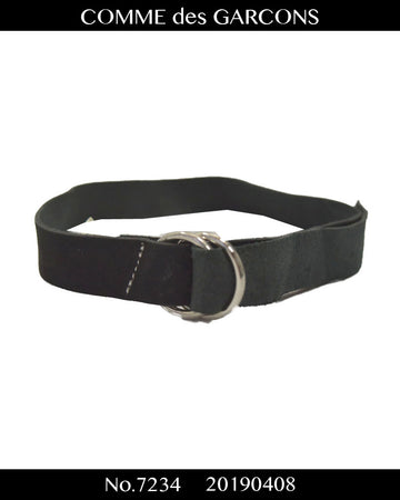 COMME des GARCONS / Black Leather Bracelet / 7334 - 0408 53