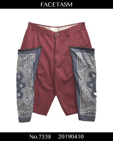 FACETASM / Bandana Attached Short Pants / 7338 - 0410 68.4