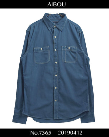AIBOU / Japanese Indigo dyeing Work Shirt / 7365 - 0412 45.3