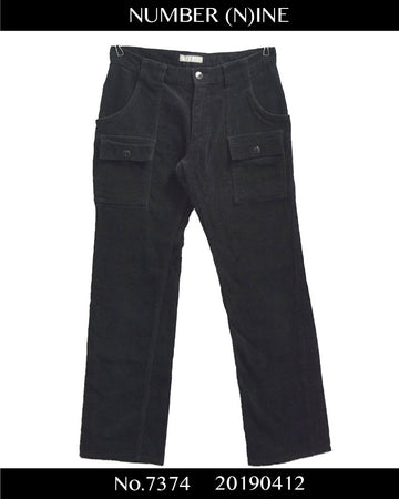 NUMBERNINE / Zip Corduroy Bush Pants / 7374 - 0412 55.2