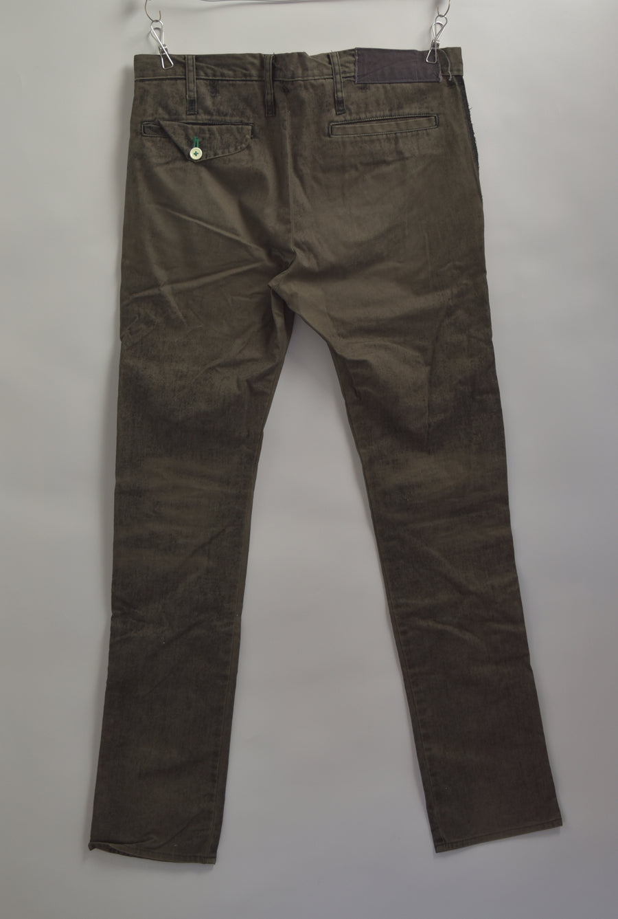 UNDERCOVER / Black Shiny Slacks Pants / 7376 - 0412 80.5