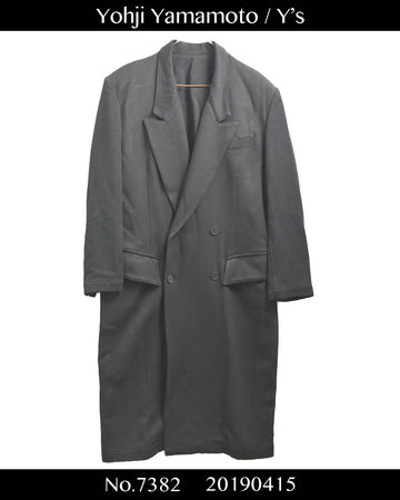 yohjiyamamoto / Y's / Long Tailored Jacket Coat / 7382 - 0415 135.5
