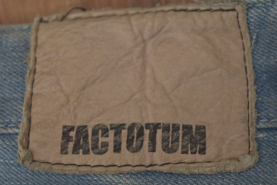 FACTOTUM / Damage Denim Pants / 7388 - 0415 36.5