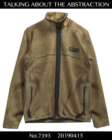 TALKING ABOUT THE ABSTRACTION / Boa Pleece Print Blouson Jacket / 7393 - 0415 58.5