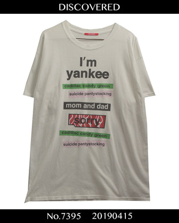 DISCOVERED / Japanese Yankee Graphic Cutsew / 7395 - 0415 36.5
