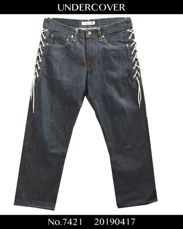 UNDERCOVER / Lace Up Denim Pants / 7421 - 0417 125.292