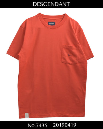 DESCENDANT / Orange Logo Pocket T-shirt / 7435 - 0419 69.5