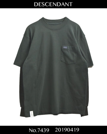 DESCENDANT / Layered Black Pocket Cutsew / 7439 - 0419 91.5