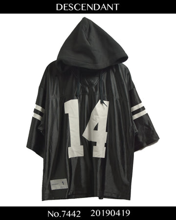 DESCENDANT / Hooded Numbering Football Shirt / 7442 - 0419 102.5