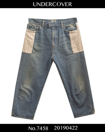 UNDERCOVER / Attached Cropped Denim Pants / 7458 - 0422 52.824