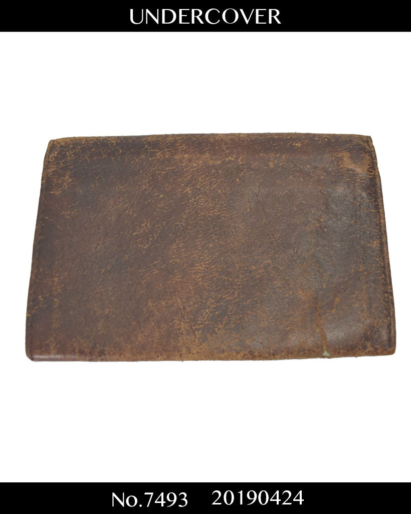 UNDERCOVER / Crack Leather Wallet / 7493 - 0424 72.8
