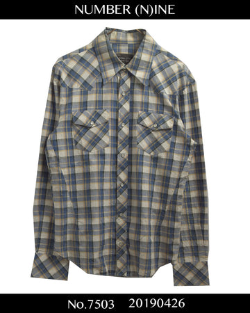 NUMBERNINE / Western Check Shirt / 7503 - 0426 87.1