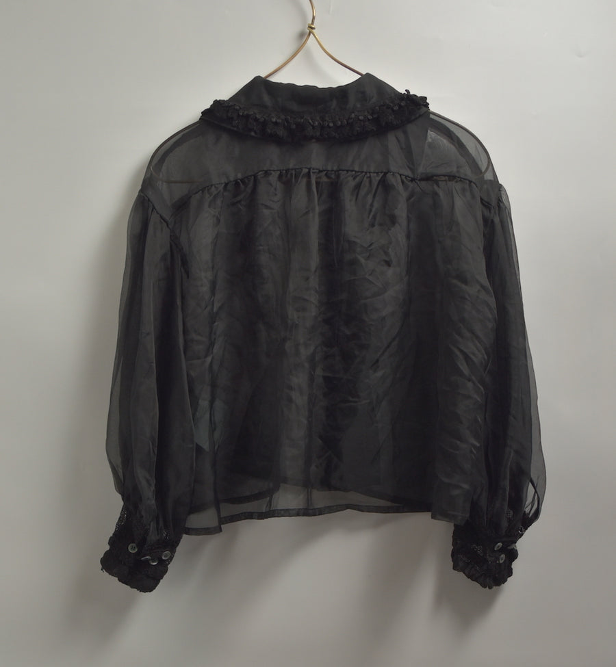COMME des GARCONS / See-through Frill Shirt / 7509 - 0426 157.5