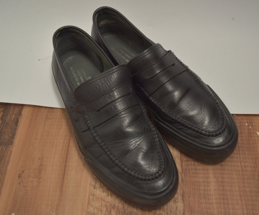 COMME des GARCONS HOMME / Black Leather Loafers Shoes / 7521 - 0426 81.435