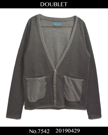 doublet / Layered Cardigan Sweater / 7542 - 0429 50.8