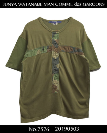 JUNYA WATANABE MAN COMME des GARCONS / Military Patchwork Camo T-shirt / 7576 - 0503 64