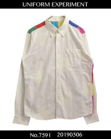 UNIFORM EXPERIMENT / Multi Color Chart Shirt / 7591 - 0506 73.9