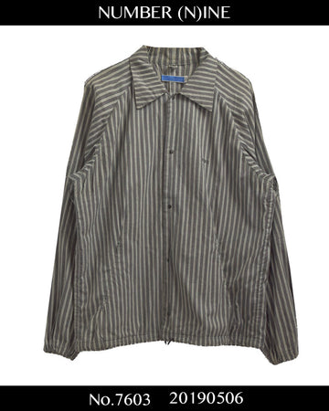 NUMBERNINE / Strype Snap Shirt / 7603 - 0506 69.5
