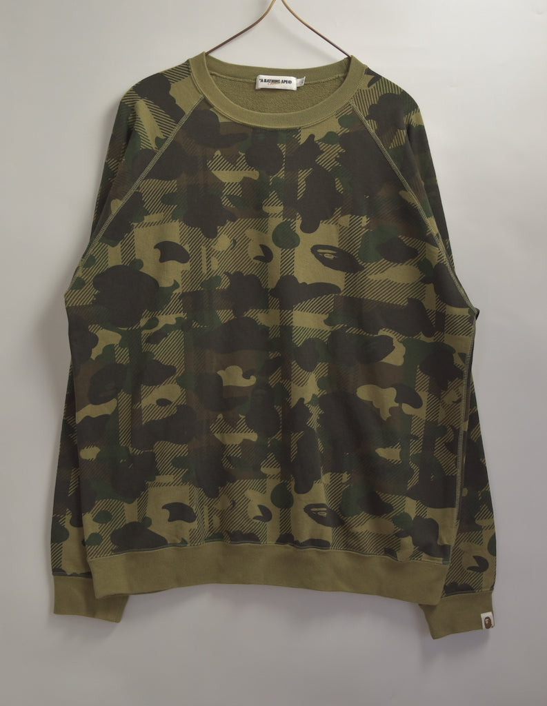 BAPE / Bape Camo Sweat Shirt / 7608 - 0506 94.8