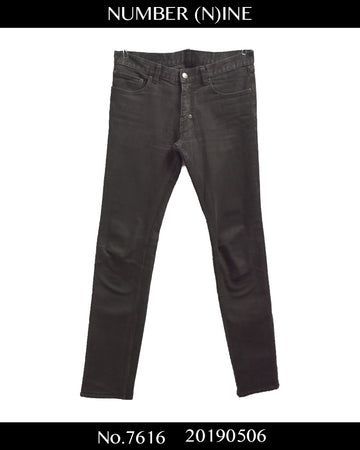NUMBERNINE / Black Skinny Denim Pants / 7616 - 0506 75