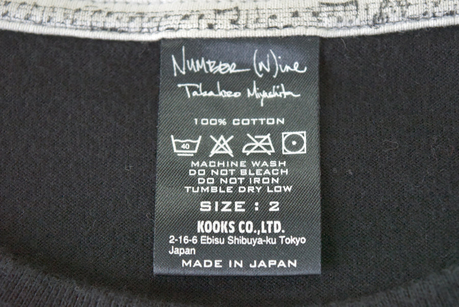 NUMBERNINE / Lettering Graphic Cutsew / 7620 - 0506 58.17