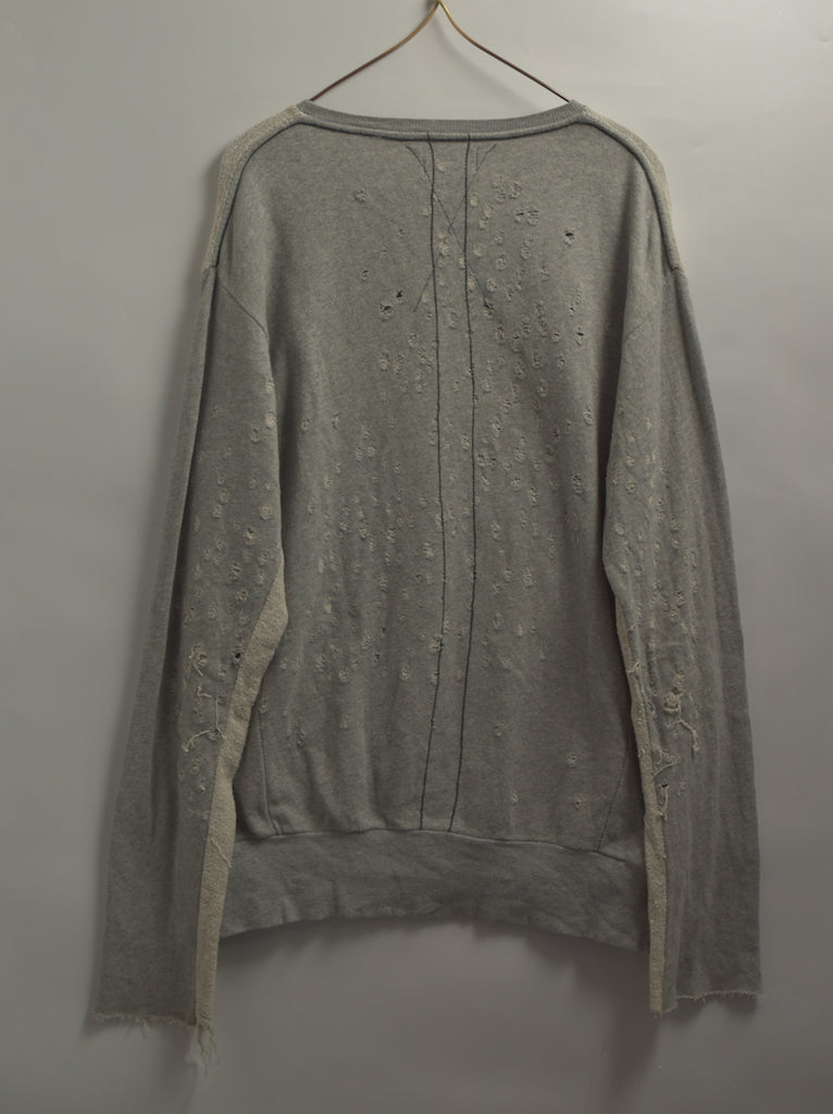 vintage / Damaged Sweat Shirt / 7623 - 0506 42