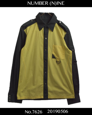 NUMBERNINE / Yellow Bicolor Shirt / 7626 - 0506 82.15
