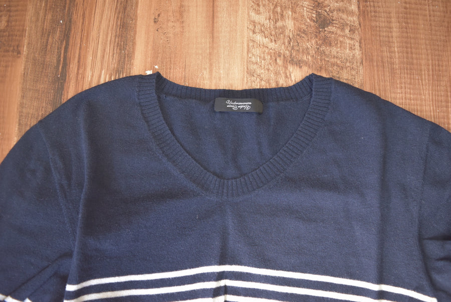UNDERCOVER / Border Knit Sweater / 7629 - 0506 57.576