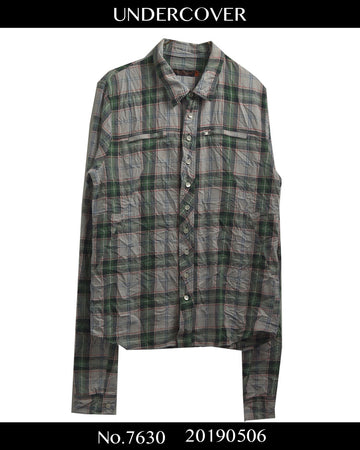 UNDERCOVER / Zip Check Shirt / 7630 - 0506 82.524