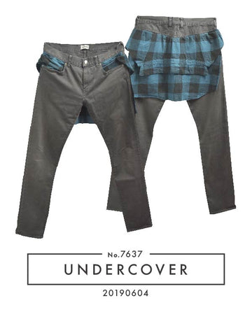 UNDERCOVER / Check Shirt Attached Pants / 7634 - 0508 112.4