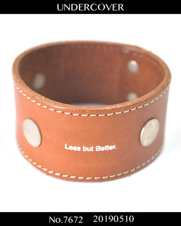 UNDERCOVER / 《 Less but Better 》 Leather Bracelet / 7672 - 0510 58.5