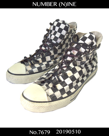 NUMBERNINE / Checker Flag Hi-cut Sneaker / 7679 - 0510 81.93