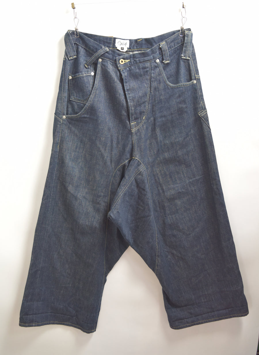 GANRYU / Asymmetry Sarouel Denim Pants / 7682 - 0510 164.254