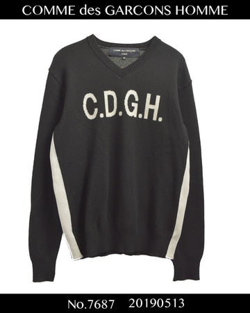 COMME des GARCONS HOMME / CDGH Logo Knit Sweater / 7687 - 0513 108