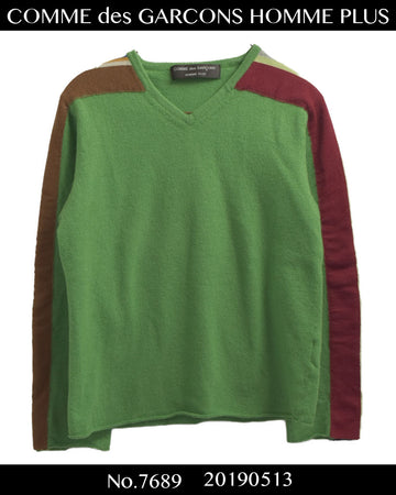 COMME des GARCONS HOMME PLUS / Multi Color Line Knit Sweater / 7689 - 0513 61.8