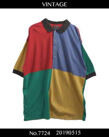 vintage / Panel Color Polo Shirt / 7724 - 0515 47.5