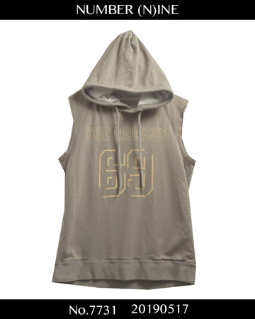 NUMBERNINE / 《 REDISUN 》Sleeveless Sweat Hoodie / 7731 - 0517 69.5