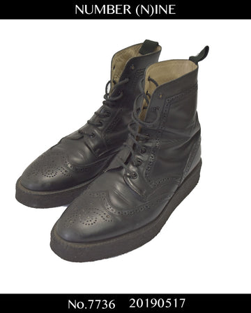 NUMBERNINE / × Foot The Coacher Leather  Wingtip Boots / 7736 - 0517 91.5