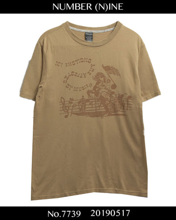 NUMBERNINE / 《 About a boy 》 Musician Western T-shirt / 7739 - 0517 53