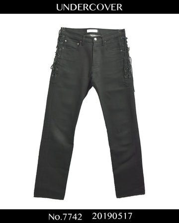 UNDERCOVER / Lace Up Black Denim Pants / 7742 - 0517 91.5