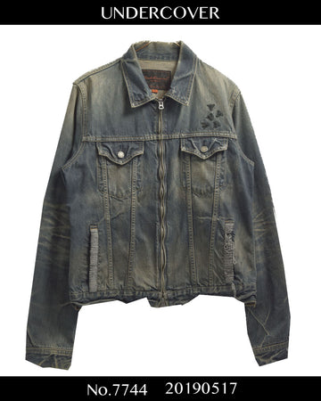 UNDERCOVER / 《 But Beautiful 》 Embroidery Zipup Denim Blouson Jacket / 7744 - 0517 174