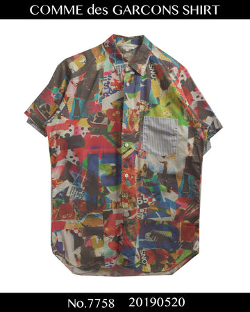 COMME des GARCONS SHIRT / Random Collage Shirt / 7758 - 0520 124.5