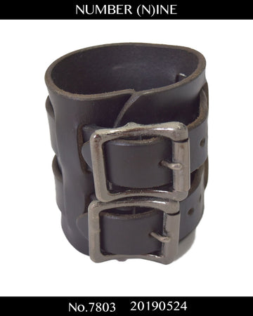 NUMBERNINE / Silver Leather Bracelet / 7803 - 0524 68.4