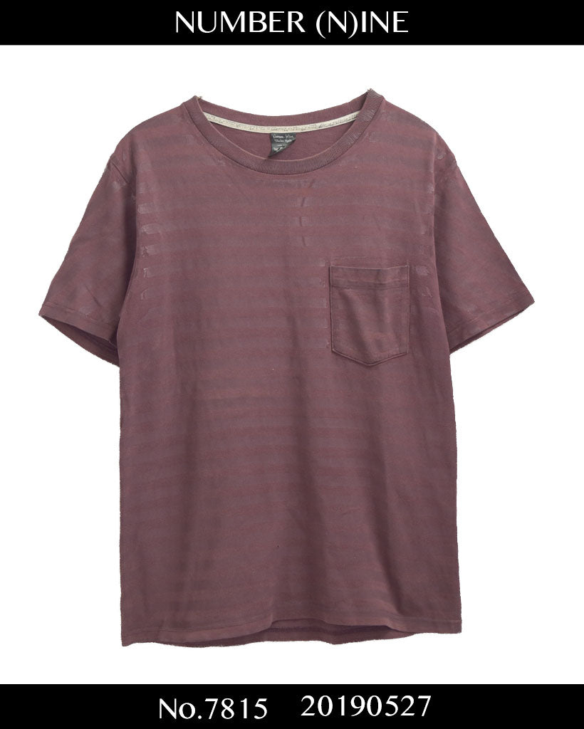 NUMBERNINE / Border Pocket T-shirt / 7815 - 0527 53.66