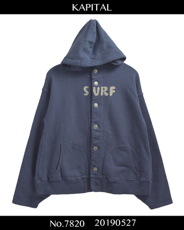 KAPITAL / SURF Button Sweat Hoodie / 7820 - 0527 89.652