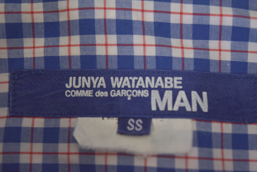 JUNYA WATANABE MAN COMME des GARCONS / Numbering Patchwork Check Shirt / 7842 - 0529 117.46