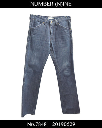 NUMBERNINE / Indigo Denim Pants / 7848 - 0529 63.67