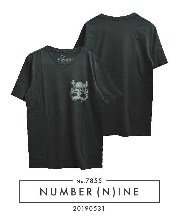 NUMBERNINE / × Shambles Skull Bone T-shirt / 7855 - 0531 42